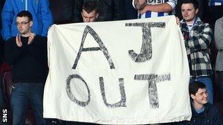 Kilmarnock fans unfurl banner