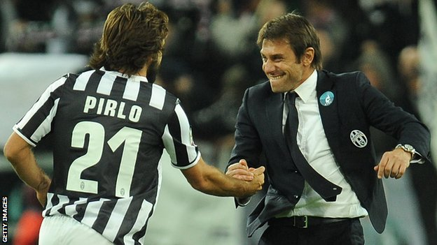 Andrea Pirlo and Antonio Conte