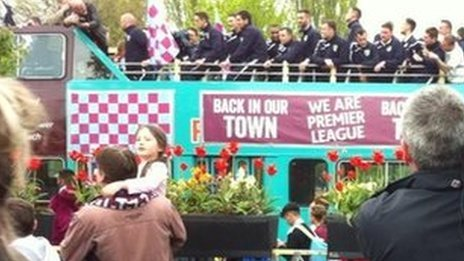 Burnley's open top bus parade