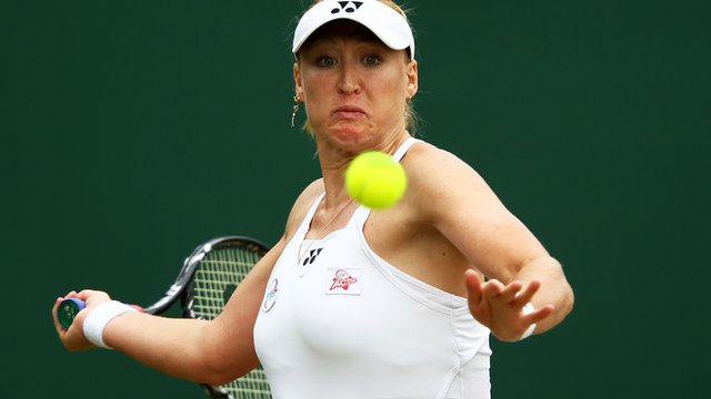 British tennis player Elena Baltacha