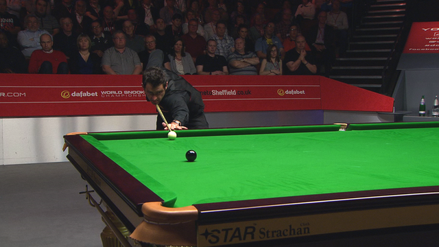 World Snooker final: Ronnie O'Sullivan storms ahead after 131 break