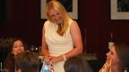 Elena Baltacha is introduced at a function ahead of a Fed Cup match in Argentina in 2013