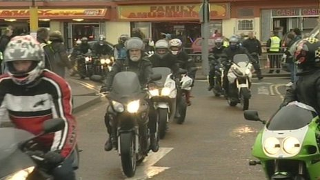 Bikers in Hastings