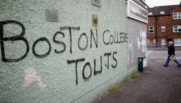 Graffiti appeared in west Belfast