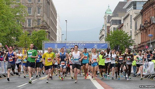 Start of Belfast Marathon