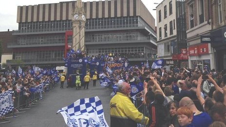 Leicester Victory parade