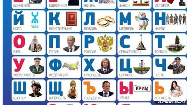 Detail of Network's alphabet