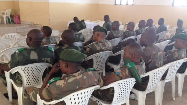 The accused soldiers in court