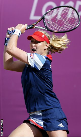 Elena Baltacha at the London Olympics