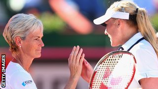 Judy Murray and Elena Baltacha
