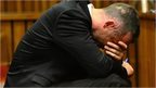 Oscar Pistorius holds head in hands in court on May 5 2014