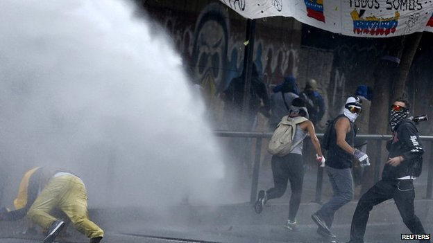 Anti-government protest in Caracas. 20 April 2014