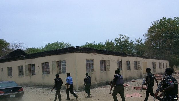 Boarding school in Chibok. 21 April 2014