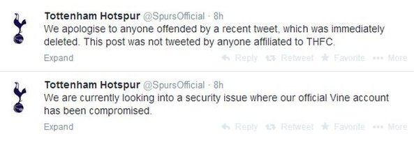 Tottenham Hotspur twitter