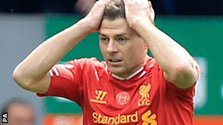 Steven Gerrard during the loss to Chelsea