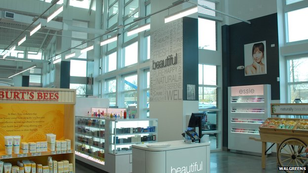 LED lighting inside Walgreens store