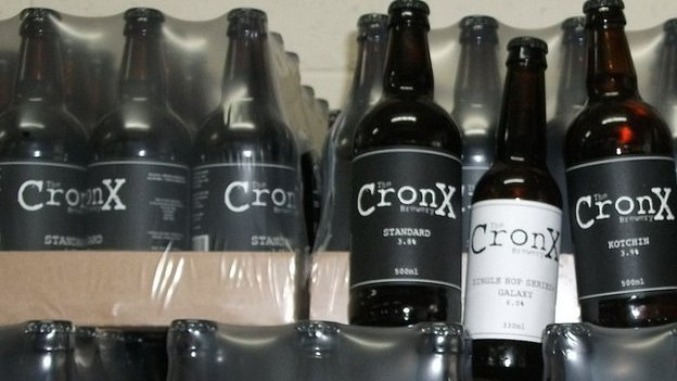 Cronx beer bottles