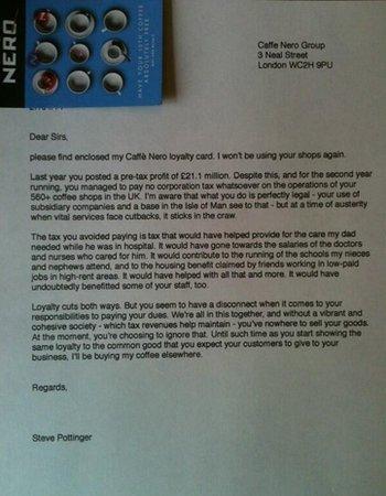 Steve Pottinger's letter