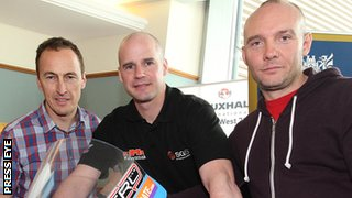 KMR Kawasaki riders Jeremy McWilliams, Ryan Farquhar and Keith Amor