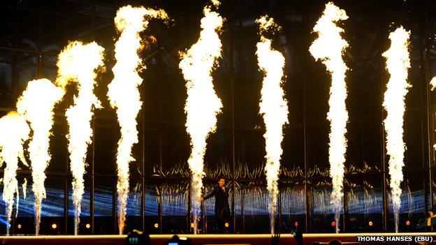 Eurovision semi-final rehearsals