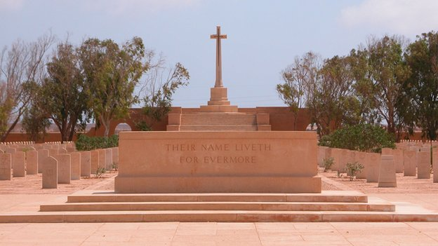 The names of more than 90 Scots, killed during the World War II siege of Tobruk, can be found on headstones in the cemetery in northern Libya.
