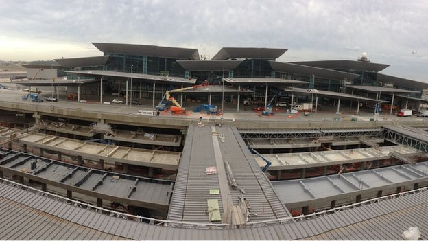 Construction work at Sao Paulo airport