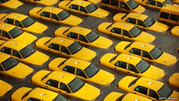 Taxi cabs, Hurricane Sandy