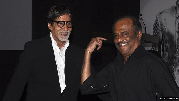 Rajinikanth with Amitabh Bachchan
