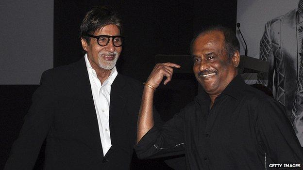 Rajinikanth with Amitabh Bachchan