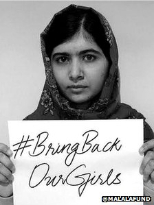 Malala Yousafzai tweets Bring Back Our Girls