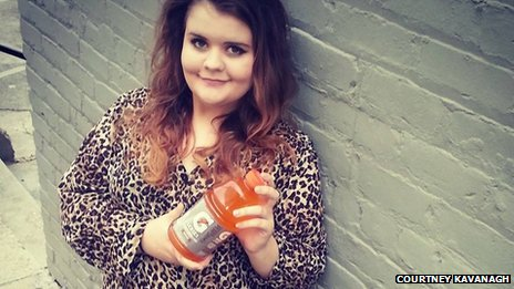 Sarah Kavanagh, holding a sports drink