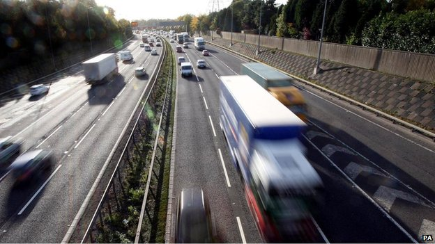 General view of traffic on a motorway