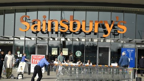 Sainsbury's supermarket in North Greenwich London