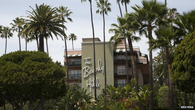 The Beverly Hills Hotel, Beverly Hills, California 5 May 2014.