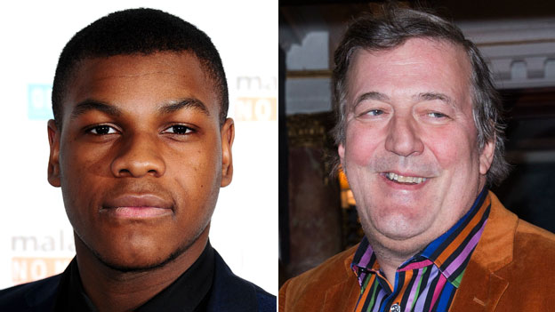 John Boyega and Stephen Fry