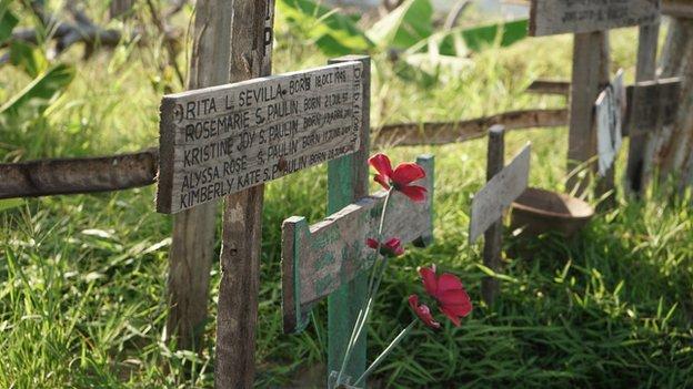 A mass grave in Tacloban