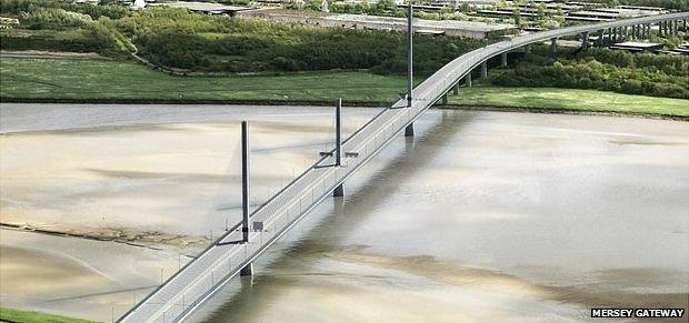 Artist's impression of Mersey Gateway bridge