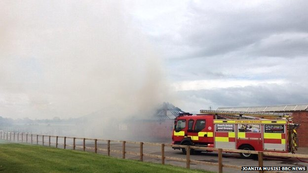 Fire at York Racecourse
