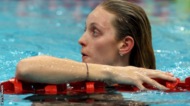 bbc sport olympics swimming fran halsall eases into 50m freestyle