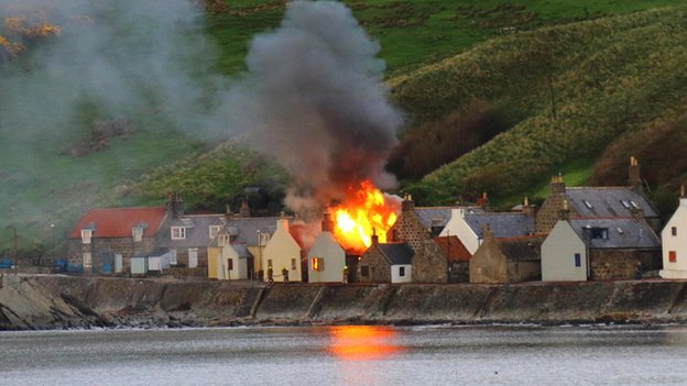 Crovie fire