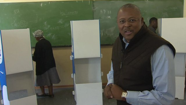 Milton Nkosi and voting booths