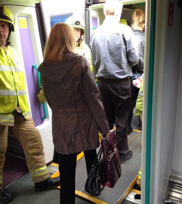 Passengers evacuated from train
