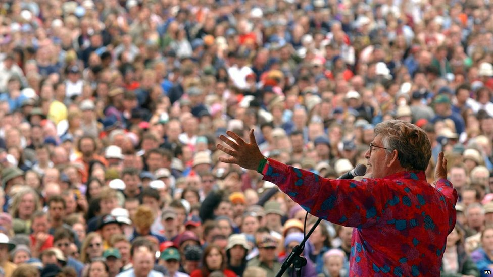 Rolf Harris at Glastonbury in 2002