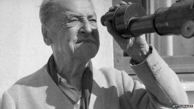W. Somerset Maugham in Nice in 1963
