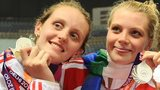 England swimmers Fran Halsall and Amy Smith