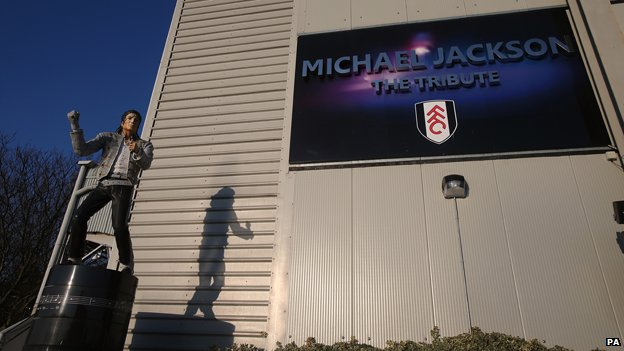 Michael Jackson statue outside Craven Cottage