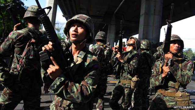 Thai military seek to restore order following protests