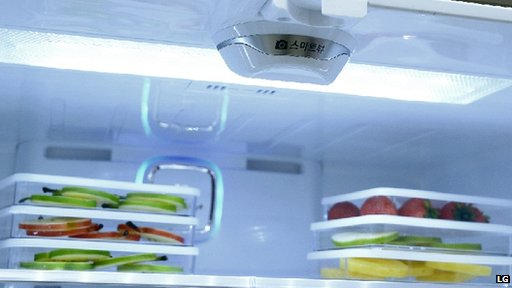 Smart fridge camera