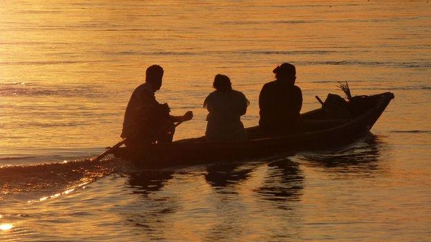 A boat on the Rio Putumayo