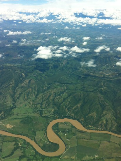 An aerial view of Colombia